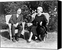 First Lady Canvas Prints - Herbert Hoover seated with his wife Canvas Print by International  Images