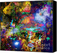 Faniart Africa America Canvas Prints - Here I Am to Worship Canvas Print by Fania Simon
