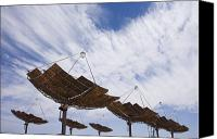 Etc. Canvas Prints - Hermansburg Solar Energy Receiver Array Canvas Print by Stephen Alvarez