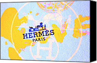 Abstract Map Photo Canvas Prints - Hermes Map Canvas Print by Lisa Eryn