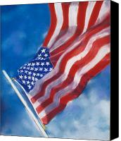4th July Pastels Canvas Prints - Heroes Canvas Print by Laura Dinoia