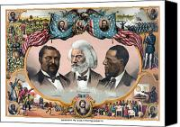 Civil War Painting Canvas Prints - Heroes Of The Colored Race  Canvas Print by War Is Hell Store