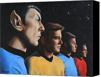 Science Painting Canvas Prints - Heroes of the Final Frontier Canvas Print by Kim Lockman