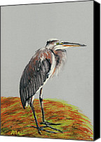 Great Pastels Canvas Prints - Heron Canvas Print by Anastasiya Malakhova