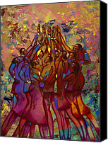 Unity Canvas Prints - Hes Worthy To Be Praised  Canvas Print by Larry Poncho Brown