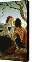Embrace Canvas Prints - Hesperus the Evening Star Sacred to Lovers Canvas Print by Sir Joseph Noel Paton