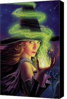 Exotic Canvas Prints - Hex of the Wicked Witch Canvas Print by Philip Straub