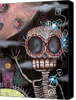 Halloween Painting Canvas Prints - Hi  Canvas Print by  Abril Andrade Griffith