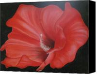 Rj Mcnall Canvas Prints - Hibiscus Melody Canvas Print by RJ McNall