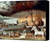 Noah Canvas Prints - Hicks: Noahs Ark, 1846 Canvas Print by Granger