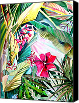 Flora Drawings Canvas Prints - Hidden Beauty Canvas Print by Mindy Newman