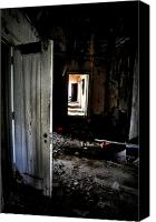 Abandoned Structures Canvas Prints - Hidden Hallway Canvas Print by Emily Stauring