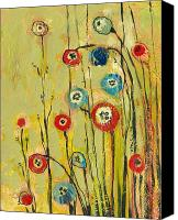 Yellow Canvas Prints - Hidden Poppies Canvas Print by Jennifer Lommers