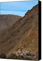 Village Canvas Prints - High Atlas mountains Canvas Print by Marion Galt