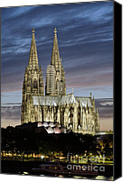 Sacral Canvas Prints - High Cathedral of Sts. Peter and Mary in Cologne Canvas Print by Heiko Koehrer-Wagner