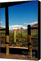 Tv Set Canvas Prints - High Chaparral Old Tuscon Arizona  Canvas Print by Susanne Van Hulst
