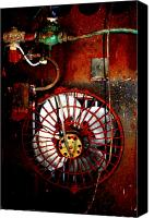 Dana Oliver Canvas Prints - High Contrast Fan Canvas Print by Dana  Oliver