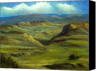 Rafael Gonzales Canvas Prints - High Desert Mesa Canvas Print by Rafael Gonzales