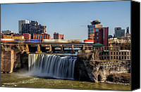 Waterfall Canvas Prints - High Falls Canvas Print by Mark Papke