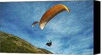 Flyers Canvas Prints - High Flyers Canvas Print by Lorraine Devon Wilke
