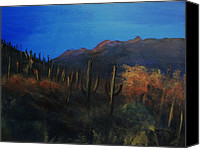 Rafael Gonzales Canvas Prints - High  New Mexico Desert Canvas Print by Rafael Gonzales