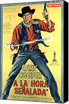 Postv Photo Canvas Prints - High Noon, Gary Cooper, 1952 Canvas Print by Everett