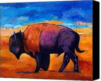 Bison Canvas Prints - High Plains Drifter Canvas Print by Johnathan Harris