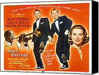 1956 Movies Canvas Prints - High Society, Louis Armstrong, Frank Canvas Print by Everett