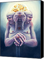 Jellyfish Painting Canvas Prints - High Society Walrus Canvas Print by Tommy De Yampert