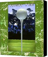 Golf Canvas Prints - High Tee... Canvas Print by Will Bullas