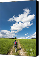 Bold Colors Canvas Prints - Hiking in the summer Canvas Print by Matthias Hauser