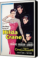 1950s Poster Art Canvas Prints - Hilda Crane, Jean Simmons, Guy Madison Canvas Print by Everett