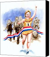 Joe Biden Canvas Prints - Hillary and the race Canvas Print by Ken Meyer jr