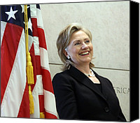 Bswh052011 Canvas Prints - Hillary Clinton Speaks At The U.s Canvas Print by Everett