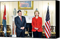 Bswh052011 Canvas Prints - Hillary Clinton With King Abdullah Ii Canvas Print by Everett