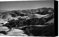 Rolling Hills Canvas Prints - Hills of San Luis Obispo Canvas Print by Steven Ainsworth