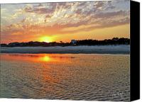 Lowcountry Canvas Prints - Hilton Head Beach Canvas Print by Phill  Doherty