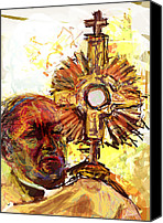 Catholic Church Canvas Prints - Him Canvas Print by James Thomas
