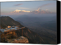 Nepal Canvas Prints - Himalaya Range Canvas Print by Nina Papiorek