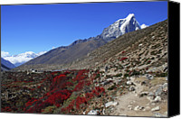 Nepal Canvas Prints - Himalayan Landscape Canvas Print by Pal Teravagimov Photography