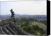 Middle Ages Photo Canvas Prints - HIMEJI CITY from SHOGUNS CASTLE Canvas Print by Daniel Hagerman