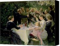 Child Canvas Prints - Hip Hip Hurrah Canvas Print by Peder Severin Kroyer