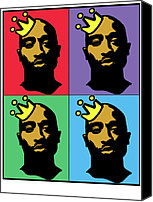 2pac Canvas Prints - Hip Hop Icons Tupac Shakur Canvas Print by Stanley Slaughter Jr