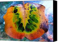 Akermans Art Canvas Prints - Hippie Leaf Canvas Print by Beth Akerman