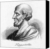 4th Canvas Prints - Hippocrates (460-377 Bc) Canvas Print by Granger