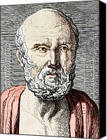 Medical School Canvas Prints - Hippocrates, Ancient Greek Physician Canvas Print by Sheila Terry