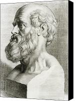 Important Canvas Prints - Hippocrates, Greek Physician Canvas Print by Science Source