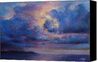Storm Clouds Pastels Canvas Prints - His Glory Canvas Print by Susan Jenkins