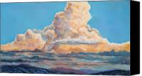 Storm Clouds Pastels Canvas Prints - His Majesty Canvas Print by Billie Colson