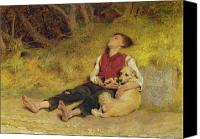 Traveller Canvas Prints - His Only Friend Canvas Print by Briton Riviere
